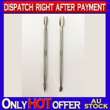 Brand New Stainless Steel Cuticle Spoon Pusher Cutter Nail Art Pusher Set of 2