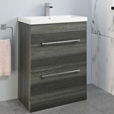 600mm Bathroom Vanity Unit Basin Drawer Storage Cabinet Furniture Charcoal Grey