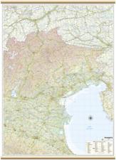 TRIVENETO CARTINA REGIONALE MURALE [97X134 CM] [MAPPA/CARTA/POSTER] BELLETTI
