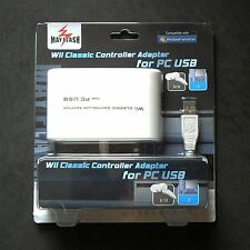 Wii Classic Controller Pro Nunchuk to PC PS3 Mac USB adapter Mayflash for 2 Port