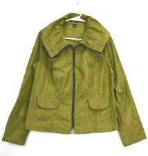 Claudia EV Women's Medium Full Zip Light Rain Jacket - Olive Green
