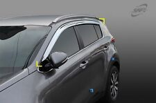 SAFE Chrome Wind Deflectors 4P for 2017 2018 KIA All-New Sportage