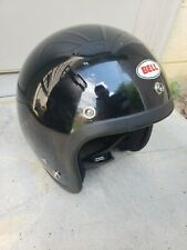 Vintage Bell RT Motorcycle Helmet   BLACK Chopper Harley   Knucklehead Racing