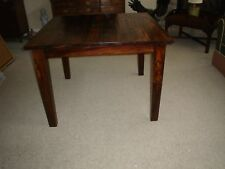 """CUSTOM Made Reclaimed Wood Farm Table Beautiful Grain 42"""" Square Excellent"""