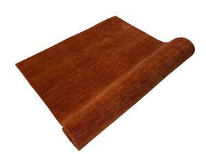 Oriental Rug Gabbeh Braun Orange 100% Wool Carpet Bridge Hand Woven