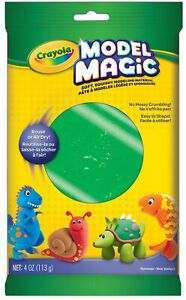 Crayola Model Magic Green Modeling Clay Alternative At Home Crafts for Kids 4 oz