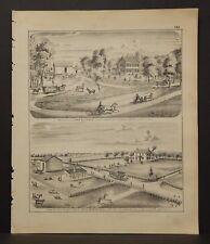 Illinois Adams County Map Residence of John Coffield 1872 K18#22
