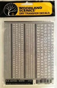 Woodland Scenics DT507 RR White Gothic Letter Decals, Dry Transfer, Easy, Fast