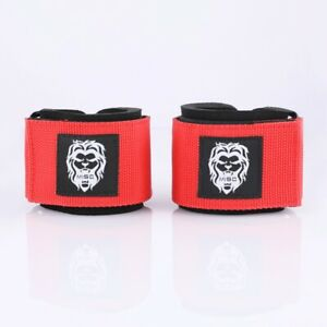 MISC FITNESS Red Weight Lifting Wrist Wraps Power Training Gym Workout Support