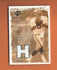 2001 UD ROOKIE FX HEROES OF FOOTBALL STEVE YOUNG GAME-USED JERSEY #HF-SY 49ers