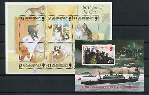 [G27557] Alderney : Good Lot of 2 Very Fine MNH Sheets