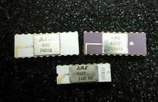 3 psc AMS 6002 White &  Purple Ceramic Vintage Ic  Gold Plated  Rare Cpu