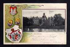 112950 AK Bückeburg Schloss 1901 Passepartout Wappen Prägekarte m Schwertlilien