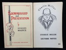 Showmanship & Presentation Edward Maurice + Lecture Notes Charlie Miller Magic