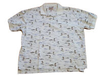 Woolrich Short Sleeve Button Down Shirt Size XL Men's River Fish and Lures
