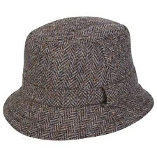 Quality UK Genuine Harris Tweed Foldable Hunter/Grouse Hat  Various Colour Sizes