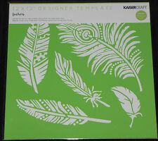 Kaisercraft 12x12 DESIGNER Template - Feathers