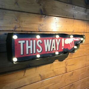 Vintage Style Led Carnival, Circus, This Way Illuminated Sign  ** LAST ONE **