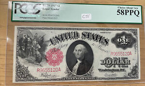 1917 $1 Legal Tender - Graded PCGS 58 PPQ - Choice About New - Fr. 39