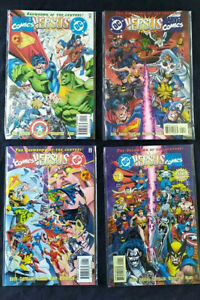 MARVEL COMICS VS DC THE SHOWDOWN OF THE CENTURY +Numeri 1,2,3,4+ Marvel 1996