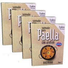 4 PACK SPANISH PAELLA SEASONING MIX WITH SAFFRON, (5 SACHETS / PACK)
