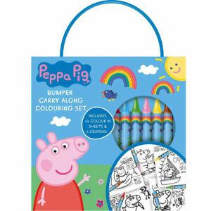 COLOURING ART SET CHILDRENS PEPPA PIG ACTIVITY PACK DRAWING BOOK CRAYONS SHEET