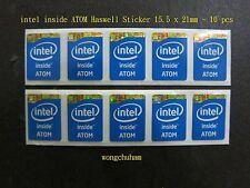 intel inside ATOM sticker 15.5mm x 21mm Haswell Version x 10 Pcs