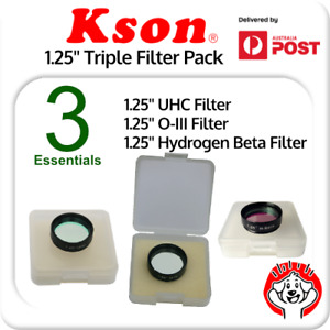 "1.25"" (UHC, O-III & Hydrogen Beta / H-Beta) Essential Triple Nebula Filter Pack"
