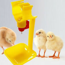 10Pcs Poultry Chicken Hanging Duck Drinking Water Nipple Drinker Feeder With Cup