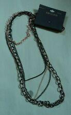 "Massini - 25"" black copper chains cascade ! new on card ! $18 retail"
