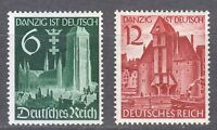 Germany 1939 MNH Mi 714-715 Sc 492-493 Unification of Danzig with the Reich **