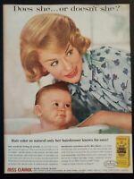 Pubblicità originale MISS CLAIROL 1961 rifilatura da rivista in passepartout