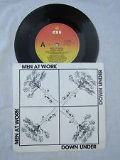 MEN AT WORK DOWN UNDER / CRAZY rare oz issue cbs BA 222891 N/M