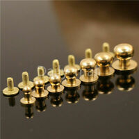 Solid brass sam brown browne button screw studs Nail Round Rivets Leather Craft