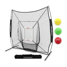 PowerNet DLX 2.0 Baseball Softball Hitting Net w/ 3 Progressive Weighted Balls