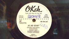 Ahmad Jamal's Three Strings 78 rpm WLP Aki and Ukthay, 1951 Okeh 6921