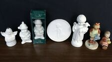 Lot of 7 Goebel figurines, white bisque bell, ornaments & plaque