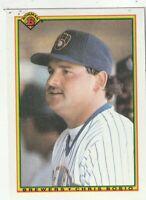 FREE SHIPPING-MINT-1990 Bowman Chris Bosio #389 BREWERS PLUS BONUS CARDS