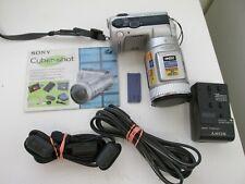 *SONY CYBERSHOT DSC-F505 DIGITAL CAMERA- SILVER- 10x DIGITAL ZOOM
