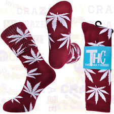 THC The Holy Couture Plant Life Burgandy Socks