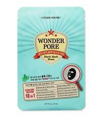 [ETUDE HOUSE] Wonder Pore Black Mask (21ml x 3Sheets) -Korea Cosmetics