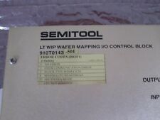 SEMITOOL 910T0143-501 LT WIP WAFER MAPPING I/O CONTROL BLOCK