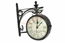 New Outdoor Nautical Black Station Wall Clock 6'' Roman Number GEc