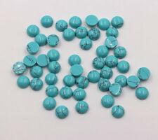 Wholesale 50pcs/lot natural turquoise stones round CAB CABOCHON stone beads 8mm