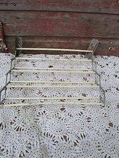 Antique Old Shabby Painted Expandable Adjustable kitchen towel rack lou-bar rare