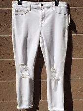 Joe's Jeans Women's Size 31 Solid White SKINNY RIPPED CUFFED NEW THE ANDIE