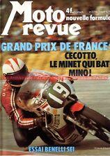 MOTO REVUE 2214 BENELLI 750 Sei 500 Quattro CECOTTO Grand Prix de France 1975