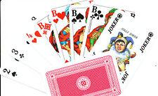 Rommé Patience Canasta Poker  Kartenspiel 2x55 Karten Spielkarten dt. Markenware