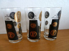 Old Gold Coin Barware Double 3 Old Fashioneds or Highballs