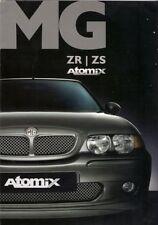 MG ZR & ZS Atomix Limited Edition 2002 UK Market Sales Brochure